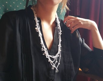 Multi strand versatile layering necklace