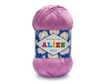 Miss Alize Mercerized cotton Yarn for knitting Crochet yarn Cotton yarn Summer yarn Cotton yarn Hand knit yarn Color choice Amigurumi