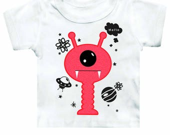 Boom Boom Ink Hello Paul Fun Alien Tee | www.boomboomink.com