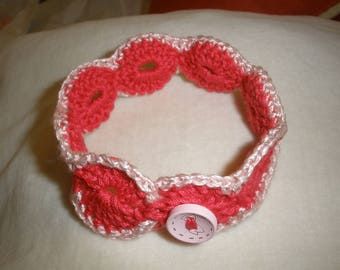 Bracelet crocheted in cotton