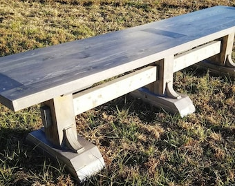 Rustic Farmhouse-style Bench
