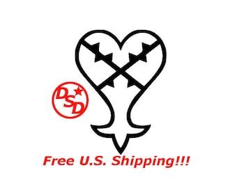 "Kingdom Hearts ""Heartless"" Vinyl Decal"