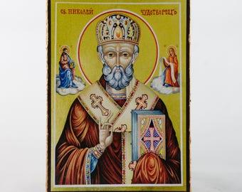 Christian Icon of Saint Nicolas, catholic icons and orthodox icons
