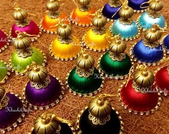 Silk Thread Earrings / Jhumka Earrings -Sold as a pair