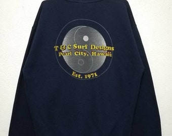 Vintage T&C Surf Design Hawaii Surfing Sweater Sweatshirt