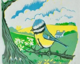 Spring - original linocut