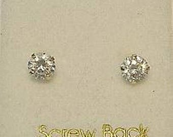 New 14kt Gold 4mm Dia Baby Ball Stud Earrings-Free Shipping!