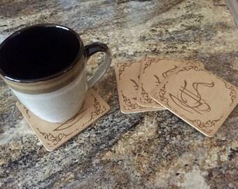 coaster, coffee coaster, gift, coffee break, coffee