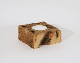"""Reclaimed Wood Tea Light Holder - 3"""" inch Pine"""