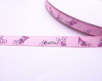 1 meter of Ribbon pattern bears
