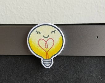 Cute Light bulb webcam cover !Custom!