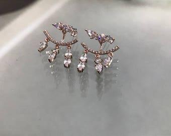 14K Gorgeous Rose Gold Chandelier Earrings