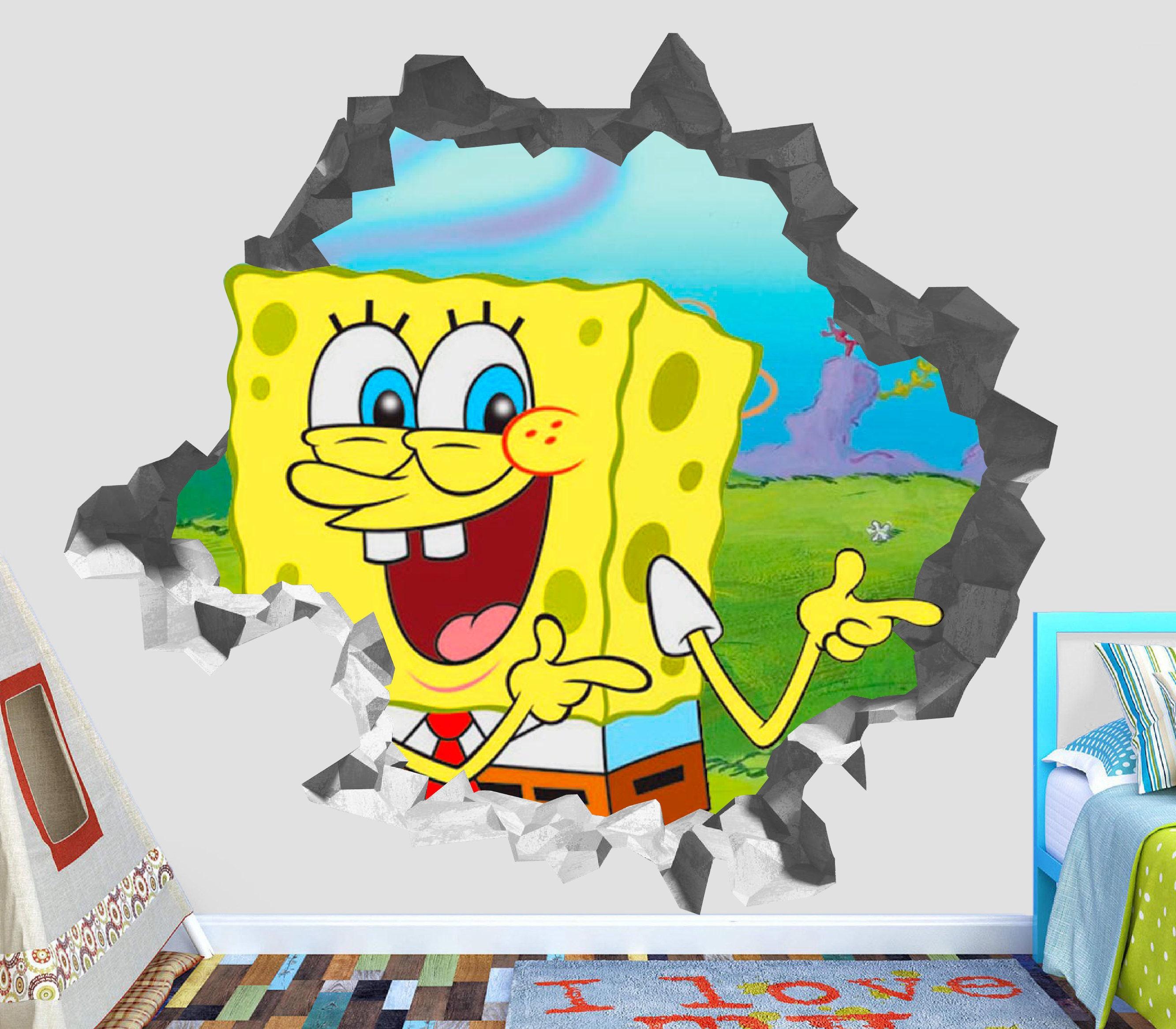 SpongeBob Squarepants Wall Decal 3D Kids Sticker Art Decor Vinyl ...