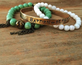 Beaded stacks, stack bracelets, bead bracelets