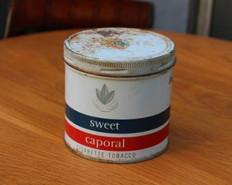 Vintage Sweet Caporal Cigarette Tobacco Tin