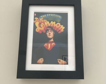 Classic Penguin Book cover print- framed - John Lennon