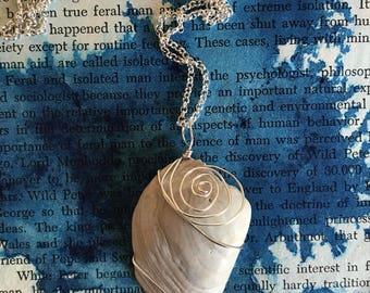 Swirl Design Seashell Necklace