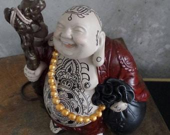 Tattooed buddha / Buddha / Tattoo figure