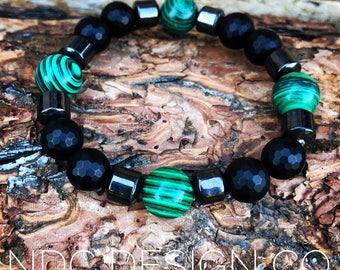 Large Malachite bracelet