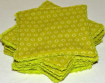 11 large wipes washable cotton/Terry 11 x 11 cm