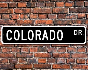 Colorado, Chevrolet Colorado sign, Chevrolet Colorado gift, Chevrolet Colorado owner, pickup truck, Custom Street Sign, Quality Metal Sign