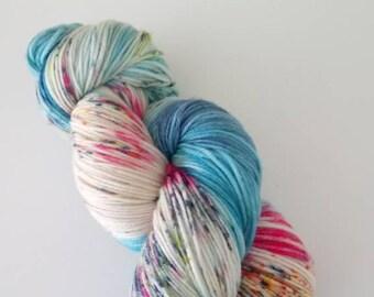 Hand-dyed Merino mix