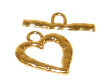 24 x 22mm Gold Toggle Clasp