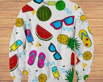 TeenMango Colorful Summer Gadgets Sweater v2 (fullprint, colorfull) free worldwide shipping