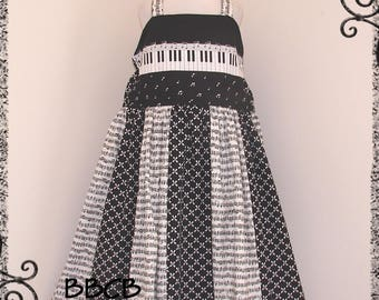 Girls Musical Piano - Recital Concert - Jazz - Musician Music Dress - fits approx 7/8 - Maybe 8/9 - Birthday - UNQIUE BBCB Pageant