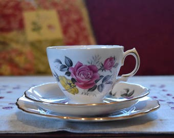 Royal Vale Bone China Tea Set - Pink & Yellow Roses