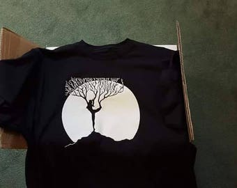 Woman in tree pose/ tree Tshirts