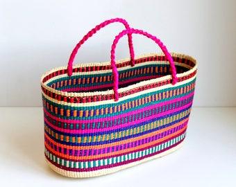 Yoyita Tote Woven Straw Bag - multicolor basket- handwoven bag- for her