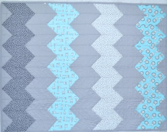 Pre-Cut Crib Quilt Kit - Robert Kaufman Penned Pals Fabric Precision Tumbler Precut Shapes.  Get sewing Shadow's Pals Crib Quilt Faster!
