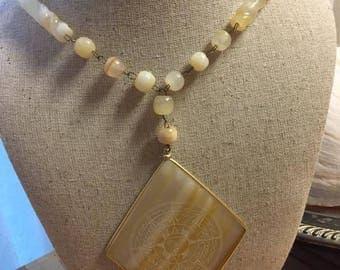 Vintage Sun Neutral Large Necklace