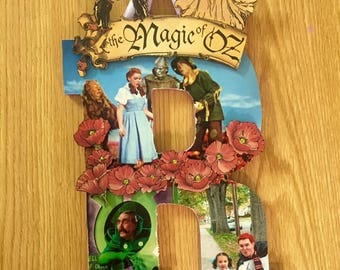 Wizard of Oz, Wizard of Oz Wooden Letters, Wooden Initials, Wooden Decor, Wizard of Oz Letters, Wizard of Oz Art