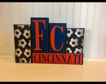FC Cincinnati Wood Block Set