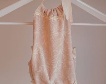 Old rose lace sitter outfit