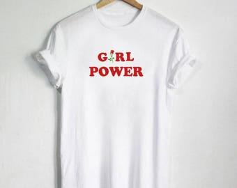 Girl Power shirt, Feminist, Feminism, Tumblr shirt, Hipster, Grunge, Instagram, Tshirt with sayings, Pinterest, Slogan, Aesthetic