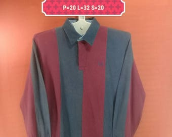 Vintage Fred Perry Shirt Long Sleeve Polo Shirt Striped Blue Red Colour Polo Bear Polo Stadium Adidas Shirts Nike Shirt Streetwear