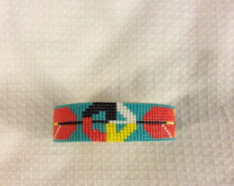 Native American Beaded  cuff bracelet