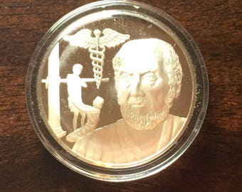 Hippocrates - Sterling Silver History of Science (Proof)