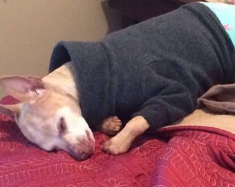 Dog Denton. Warm Pet Sweatshirt. Warm Pet Pajama Top, Turtleneck Fleece Top, Pet Pajama, Custom Made Pet Clothes