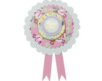 Truly Hen Floral Bride To Be Rosette Badge, Bachelorette Rosette, Hen Party, bridal shower, Hen Party, Bride to be badge, Vintage floral