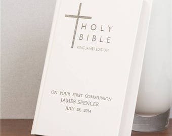 Personalised Bible - Kings James Edition, 2 Colours, Personalized, Baptism, Christening, Holy Communion, Confirmations, Wedding Gift, Bible