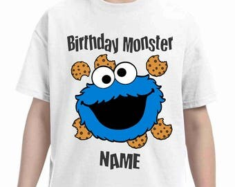 Cookie monster Birthday t-shirt