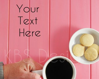 Pink Table with Coffee /Styled Stock Photography/ Stock Photo/ Styled Photo Background/ Social Media