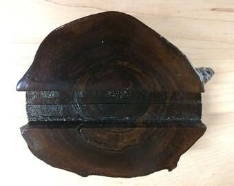 Black walnut business Card Holder - Hand Crafted