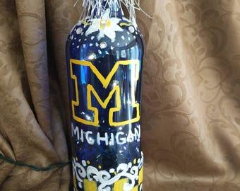 University of Michigan loghtd bottle