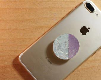 Handmade Popsocket Phone Grip | Blue & Purple Sparkly