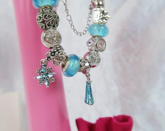 PRE-ORDER 5 WKs Frost Queen Charm Bead Bracelet